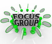 Focus Group Marketing Discussion Opinions Survey — Stock Photo