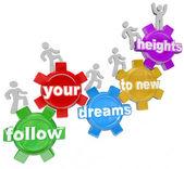 Suivez vos rêves vers de nouveaux sommets, grimpant les engrenages — Photo