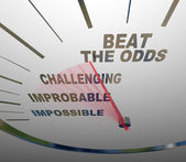 Beat the Odds Successful Goal Achievement Speedometer — Stock Photo