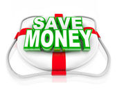 Save Money Life Preserver Budget Rescue Sale — Stock Photo