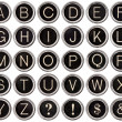 Stock Photo: Vintage Typewriter Key Alphabet