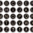 Vintage Typewriter Key Alphabet - Stockfoto