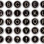 alfabeto clave escribir Vintage — Foto de Stock