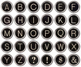 Vintage Typewriter Key Alphabet — 图库照片