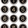 Vintage Typewriter Number Keys — Foto de stock #11991878