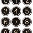 Vintage Typewriter Number Keys — Foto Stock #11991878