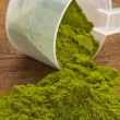Постер, плакат: Wheatgrass powder supplement