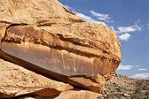 Antiga arte rupestre com cobra — Foto Stock