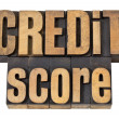 Credit score in wood type — Foto Stock #10764564