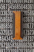 Number one - numerical abstract — Stock Photo