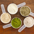 Stock Photo: Superfood supplement powder