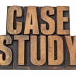 Stockfoto: Case study words in wood type