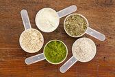 Superfood συμπλήρωμα σε σκόνη — Φωτογραφία Αρχείου