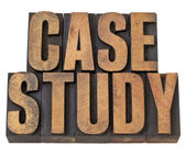 Case study words in wood type — Stock Photo