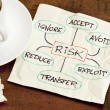 Risk management concept on a napkin — Stock Photo