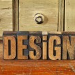 Design word in vintage wood type - Stock Photo