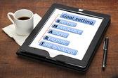 Smarta mål inställning koncept — Stockfoto