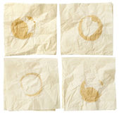 Napkins with coffee stains — Stock Photo