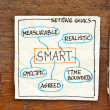 Goal setting concept - SMART — Stock Photo