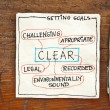 Goal setting concept - CLEAR — Stock Photo