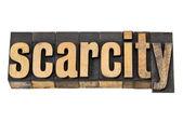 Scarcity word in letterpress wood type — Stock Photo