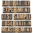 Stock Photo: Experiment, observation, test