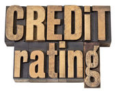 Credit rating in wood type — Stock Photo