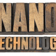 Nanotechnology in wood type — ストック写真