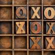 Tic-tac-toe or noughts and crosses - Stock Photo