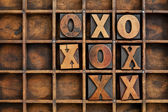 Tic-tac-toe or noughts and crosses — Stock Photo
