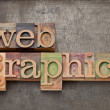 Web graphics in wood type — Stock Photo #11527023