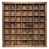 Vintage wood typesetter case — Stock Photo