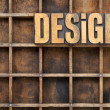 Design concept in wood type — Stockfoto