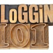 Blogging 101 in wood type — Stock Photo