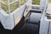 Irrigation ditch gate — Stock Photo