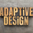 Adaptive design — Stockfoto