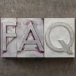Frequently asked question - FAQ — Stock Photo