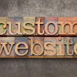 Custom website - Foto Stock