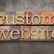Stock Photo: Custom website