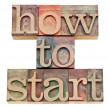 How to start words in wood type — Stock Photo #12225386