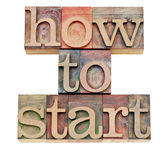 How to start words in wood type — Stock Photo