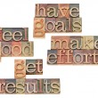 Goals, efforts, results, feeling good — Stock Photo
