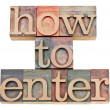 How to enter in letterpress wood type - Foto Stock
