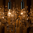 Modern chrystal chandelier — Stock Photo