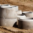 Concrete Drainage Pipes - Stock Photo