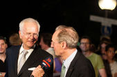 Harald Schmidt interviews Stuttgart Lord Mayor Wolfgang Schuster — Stock Photo