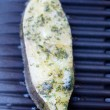 Halibut fillet on BBQ — Stock Photo #12324978