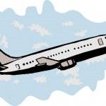 Постер, плакат: Jumbo jet airplane taking off