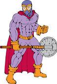 Executioner superhero with axe — Stock Vector