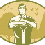 Gardener Landscaper Farmer Retro — Stock Vector